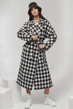 Женское пальто Norma с принтом гусиная лапка