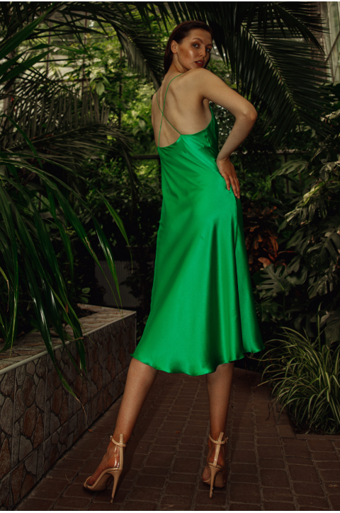 Silk slip dress Eva