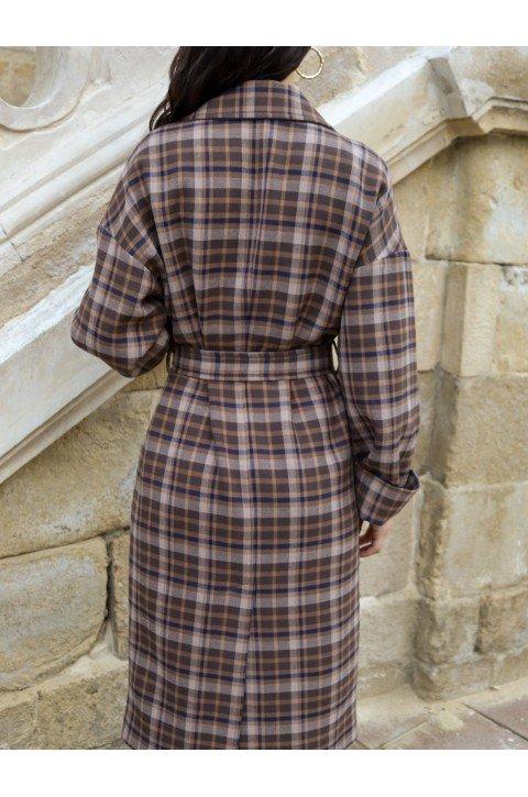 Женское пальто в клеточку Natalie